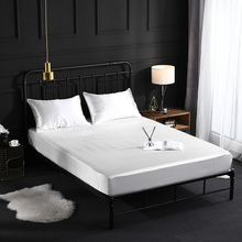 Satin silk elastic Fitted Sheet Luxury bed linen Cover bedding set sheets mattress Protector bedspread bed