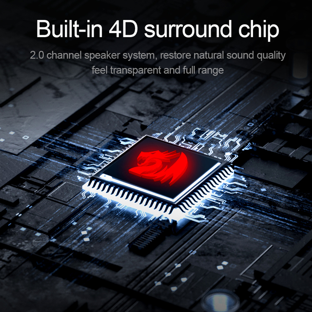 Redragon aux 3.5mm stereo surround music smart RGB speakers sound sound bar for computer 2.0 PC home notebook TV loudspeakers 2