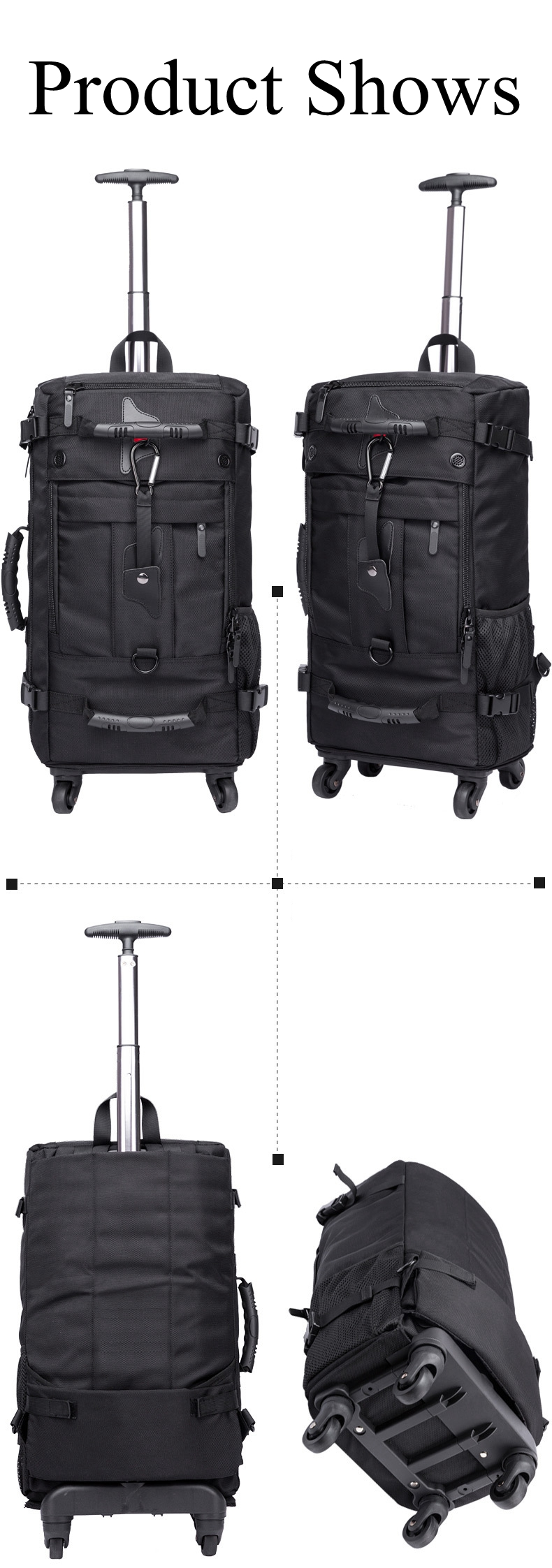 KAKA Men Travel trolley rucksack Rolling Luggage backpack bags on wheels wheeled backpack for Business Cabin Travel trolley bags