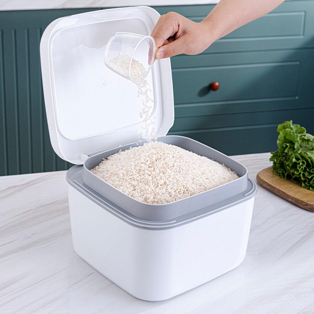 1 шт. рисовая коробка новый шикарный хороший диспенсер для муки Ящик Контейнер для хранения|Бутылки, банки и коробки|   | АлиЭкспресс