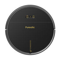Pureatic V8A Vacuum Cleaner Robot Sweep Wet Mop Wireless For Floors Carpet Automatically Charge Smart APP Control White Black