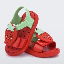 2021 nova mini melissa crianças sapatos de frutas dos desenhos animados sandálias geléia abacate meninas sandálias melissa praia sapatos