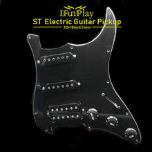 SSH Loaded Prewired Electric Guitar Pickguard Pickup Set 4Ply Pickups for FD ST Style Guitar Black