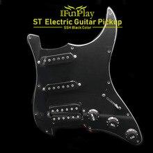 SSH załadowany wstępnie okablowany zestaw wzmacniaczy gitarowych 4Ply przetworniki do gitary FD ST Style Black