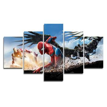 Discount coupons 5 Piece Miracle Avenger ultron super hero canvas painting home decor Canvas art wall poster (No Frame) 1681015 фото