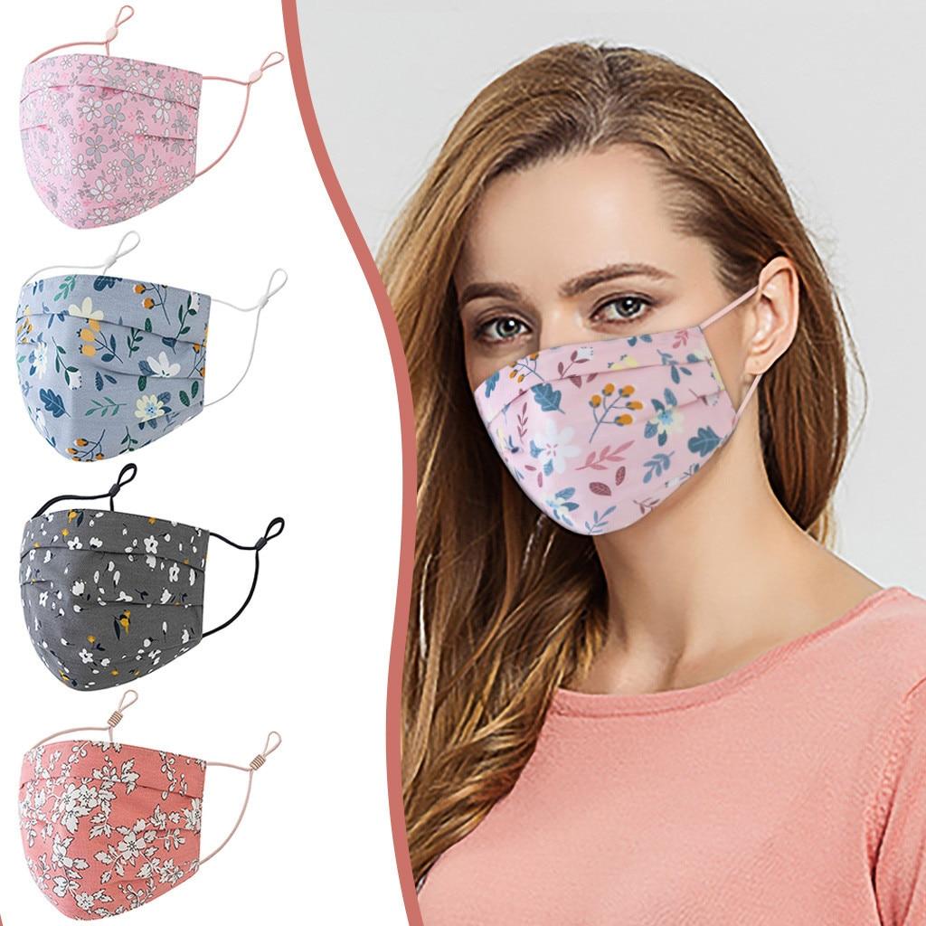 Модный принт маска для лица многоразовая рта крышка Ткань Рот шапки защитная маска для лица взрослых смываемая маска для лица маски