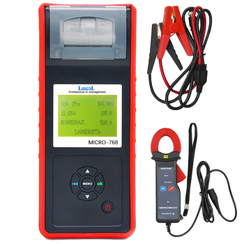 Lancol MICRO-768A Car Battery Tester With Printer Battery Analyzer Auto Battery&Current Detector Automotriz Profesional Tools