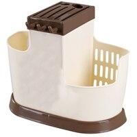 Chef Knife Bag Multifunction Knife Holder Plastic Block Bar Dividing Grid Barrel Chopsticks Cage Cutlery Holder Stand for Knives Racks & Holders     -