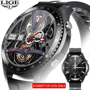 LIGE New Men Smartwatch Full touch screen IP67 waterproof Sports fitness watch Electronic Luxury Smart watch Bluetooth call +Box