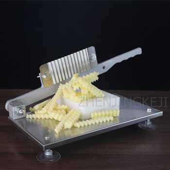 Potato Machine Stainless Steel Cut French Fries Strip Cutter Potato Flower Wave Strip Machine Cut Fancy French Fries Machine