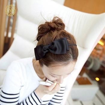 Gorące kobiety obręcz do włosów śliczne duże kokarda do włosów kokarda ślubna z pałąkiem na głowę nakrycia głowy akcesoria do włosów HTML dla pani tanie i dobre opinie CN (pochodzenie) Brak Przędzy Hairbands TRENDY FHX4212 GEOMETRIC