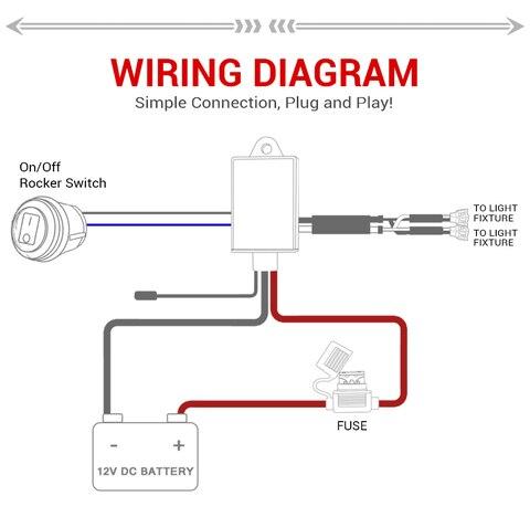 amp rele fusivel on off strobe controle remoto interruptor impermeavel vermelho 2 chumbo