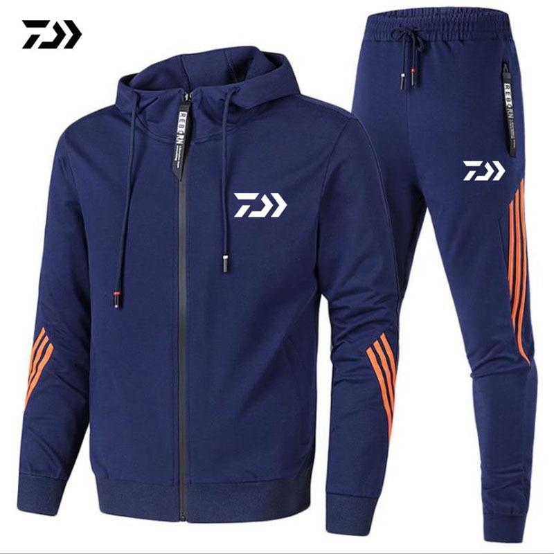 New DAIWA Fishing Jacket And Pants Top Quality Men Outdoor Sport Cotton Breathable Spring Autumn Fishing Clothing Set DAWA Shirt