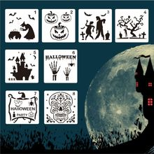 Template Face-Painting Stencils for DIY Decor Halloween 8PCS