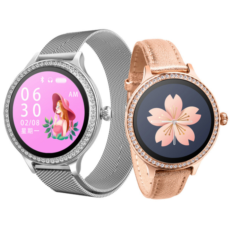 LYKRY <font><b>M8</b></font> <font><b>Smart</b></font> <font><b>Watch</b></font> Women Heart Rate Blood Pressure Physiological Cycle Fitness Tracker IP68 Waterproof Sport Smartwatch 1.3
