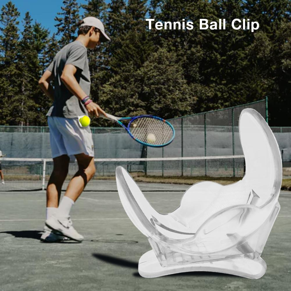 1Pc Professional Tennis Ball Clip Tennis Ball Holder Waist Clip Transparent Holds Training Equipment Tennis Ball Accessories