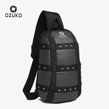 OZUKO Men's Fashion Crossbody Bag Oxford Waterproof Chest Bags Male Shoulder Messenger Bag Casual Sling Waist Pack Leisure(China)