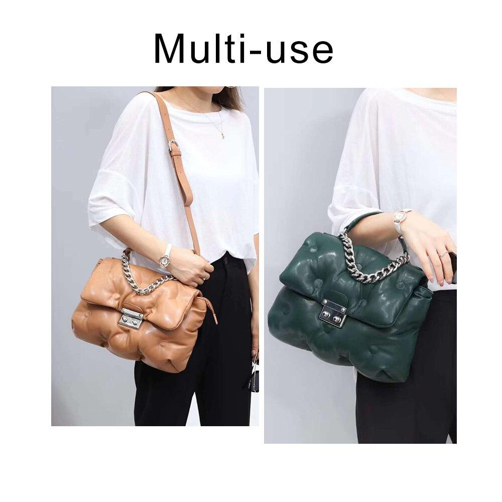 Women Cotton Feather Down Bag Fashion Crossbody Messenger Bag Handbag Space Pad Winter Soft Space Cotton Shoulder Tote Bag
