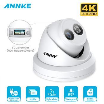 ANNKE 1PC ultra hd 8MP kamera poe 4K zewnętrzna wewnętrzna odporna na warunki atmosferyczne sieć bezpieczeństwa kopuła EXIR Night Vision e-mail Alert kamera telewizji przemysłowej