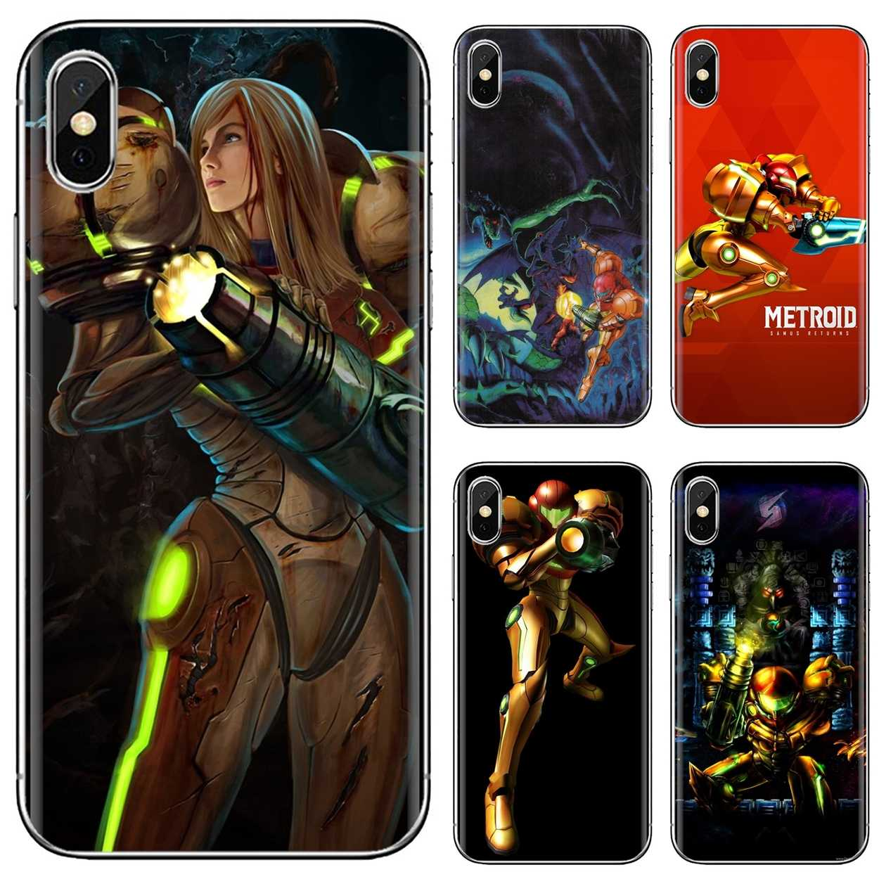 Metroid Wallpaper Hd For Iphone 11 Pro 4 4s 5 5s Se 5c 6 6s 7 8 X 10 Xr Xs Plus Max For Ipod Touch Beautiful Silicone Phone Case Half Wrapped Cases Aliexpress