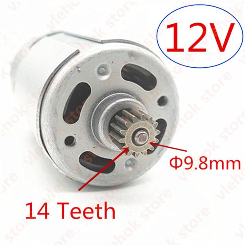 14 Teeth RS-550VC DC 12V Motor Replacement For MAKITA 629817-8 6270D 6270DWE 6271DWE 6271D 6270DWPE MOTOR