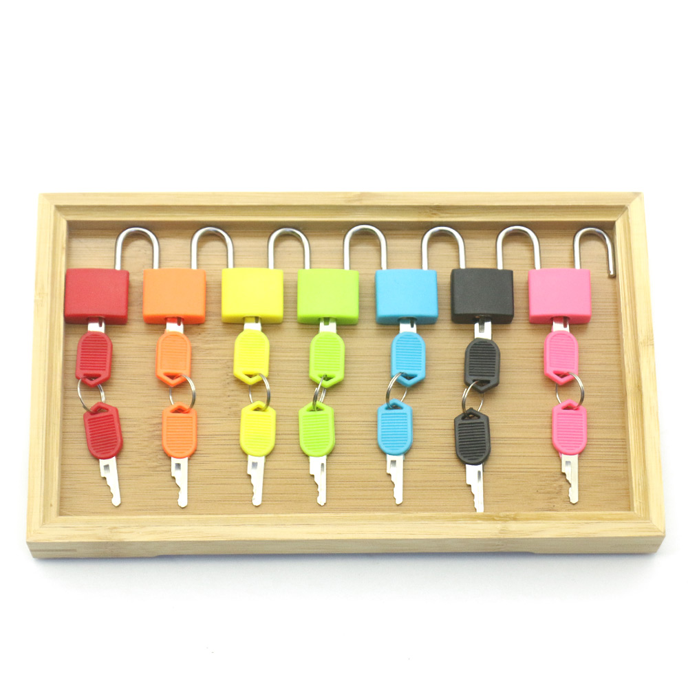Wooden Tray Locks Set Educational Montessori Sensory Toys For Children Montessori Preschool Sensorial Materials Juguetes MJ1064H