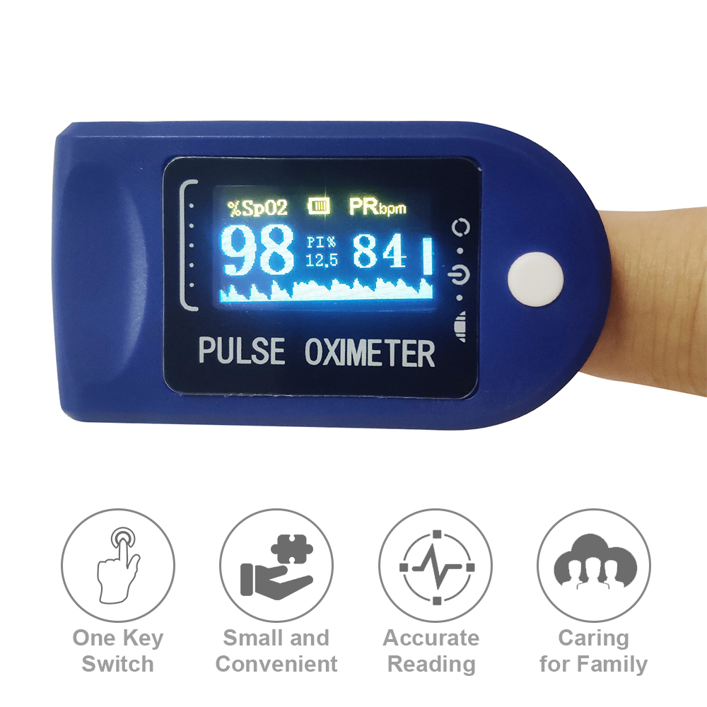 OLED Display Blood Oxygen Level SpO2 Finger Oximeter Sensor Saturation Fingertip Monitor Meter Digital Fingertip Pulse Oximeter