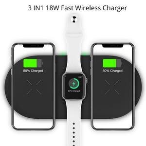 Image 4 - Bonola Base de carga inalámbrica 3 en 1 para Apple Watch 5, cargador inalámbrico para AirPods Pro, 11Pro para iPhone/11/XAR/XsMax