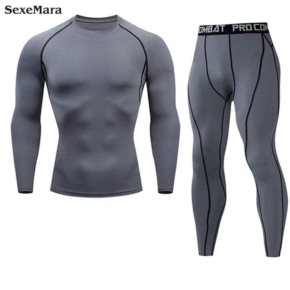 Men's Sports Suit Long Sleeve Running Sets Quick Dry Sportswear Gym Jogging Suit Compression Yoga Sport Fitness Set Clothes