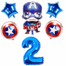 Captain America Folie balloons 32 inch Rose Gold Number and 18inch balloons birthday party decorations Children's baby toys