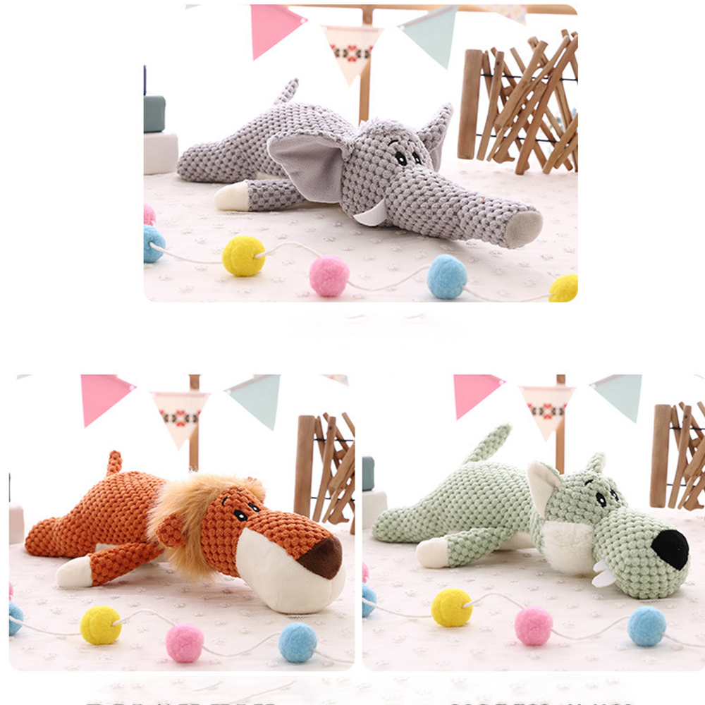 35cm forest animal plush toy soft stuffed figurine lion elephant wolf pillow family decoration childrens gift 203