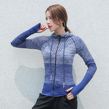 Женские куртки для бега Спортивная Толстовка спортивная куртка