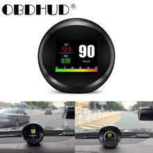 אוניברסלי P11 רכב OBD2 HUD ראש עד תצוגת GPS מד מהירות Overspeed אזהרה שמן מים טמפ מד דיגיטלי OBD2 אבחון כלי
