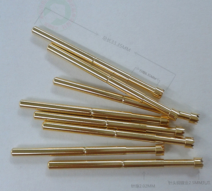 PA125-H Probe Plum Nine Claw Test Needle 2.5MM Gold-plated Claw Needle 34MM Long Spring Gold Claw Needle
