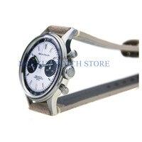 Cronógrafo mecánico FOD MERKUR para TianJin 1963 ST2901 movimiento cisne cuello hombres piloto reloj Flieger B-UHR bobinado militar