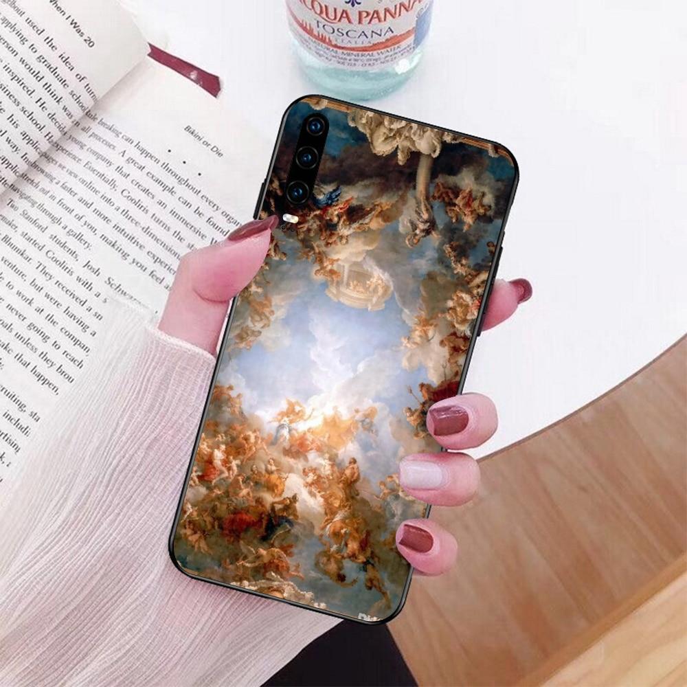 Nbdruicai arte fresco michelangelo criação de adam telefone capa para huawei honra 10 9 8 8x 8c 9x 7c 7a nova 3 3i lite y9 y7 y6