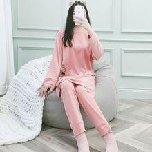 Новые пижамы для женщин осень и зима теплая бархатная Милая