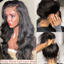 Full Lace Wig 250 Density Pre Plucked Full Lace Human Hair Wigs For Women Brazilian Transparent Body Wave Fake Scalp Ever Beauty