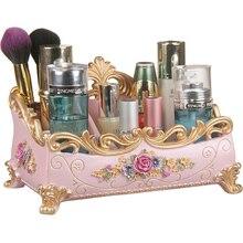 Роскошный косметический держатель для губной помады, ручная резьба и живопись, органайзер для макияжа из эко-смолы, косметический держатель, инструменты для хранения косметики