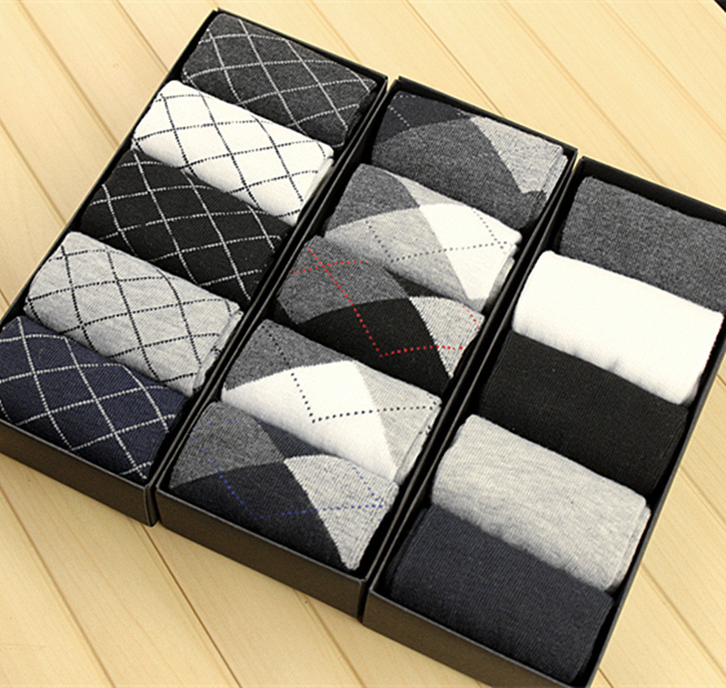 10Pcs=5Pairs Men Cotton Mens Crew Socks Gifts For Men Solid Breathable Deodorant Socks Men Spring Summer Autumn Winter