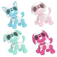 Chien de compagnie, Robot cascadeur chiot jouets animaux électroniques Robot interactif avec son pour enfants garçons et filles âge 3, 4, 5, 6 ans