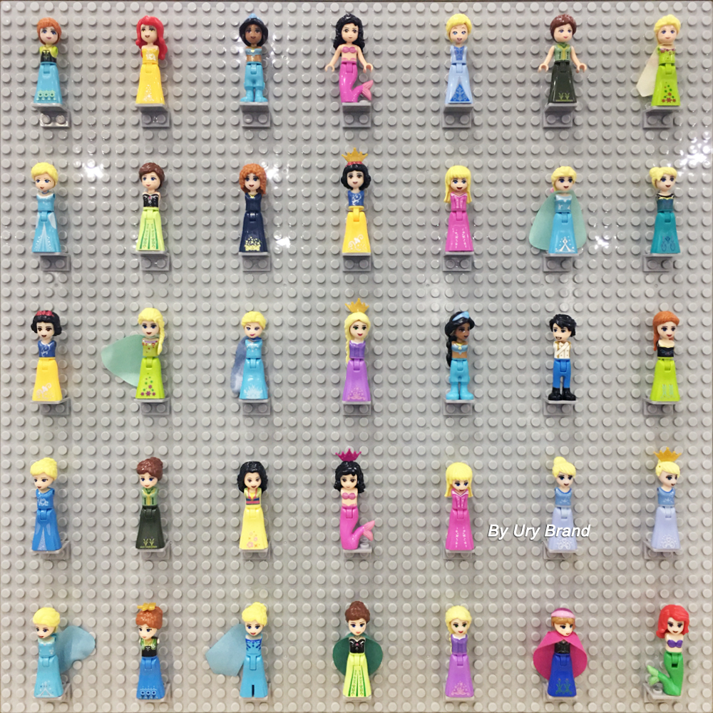 Fit 50*50 Baseplate Mini Figures Display Stand Minifig Wall DIY MOC Base Plate Accessory Set Building Blocks Toys Children Gifts