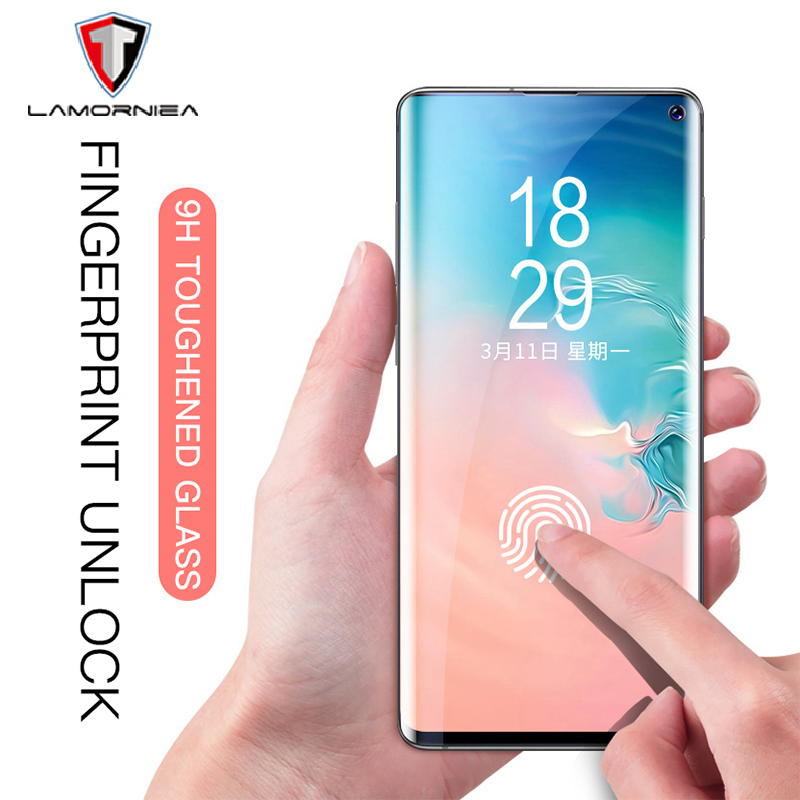 Fingerprint Unlock Tempered Glass For Samsung Galaxy S10 S8 S9 Plus Protective Glass Screen Protector For Samsung Note 8 9 10+