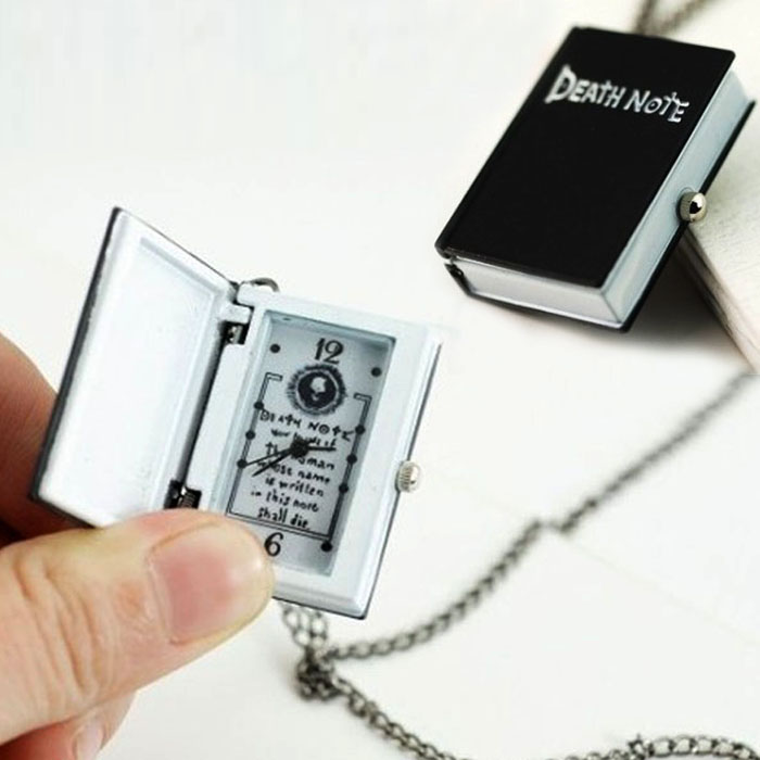 Pocket Watch For Men Unique Death Note Bronze Necklace Chain Necklace Chain Relogio Masculino Reloj De Bolsillo часы