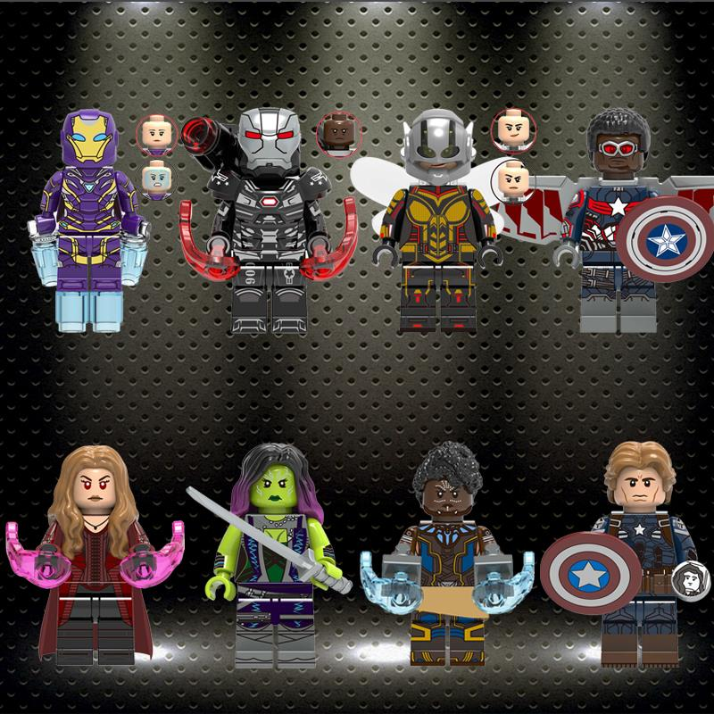 Legoing Marvel Avengers 4 Endgame Super Hero Figure Scarlet Witch Gamora Wasp Falcon Building Blocks Brick Child Toys X0263