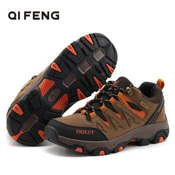 Nuevos deportes al aire libre Pro-Montaña senderismo botas de los hombres y las mujeres zapatos de Trekking resistente al desgaste a calzado Rock zapatos de escalada