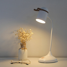 Mini Cute Deer Antler Table Night Light Portable White Blue Pink Touch Dimmer Brightness Desk Reading Lamp with Recharge Battery