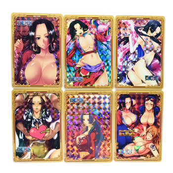 10pcs/set ONE PIECE Boa Hancock Shirahoshi Sexy Refractive Process Toys Hobbies Hobby Collectibles Game Collection Anime Cards