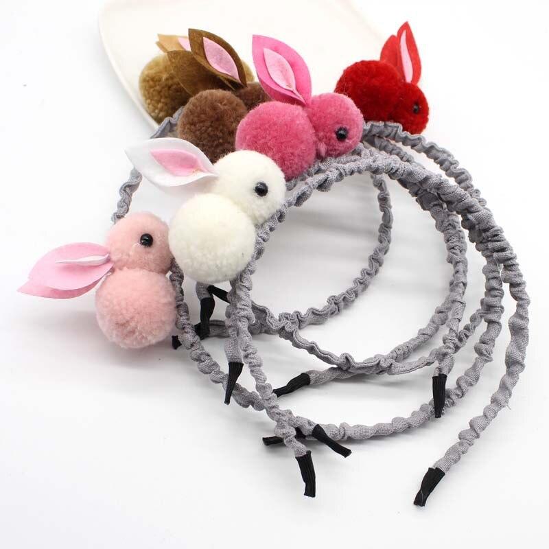 Kids Hair Accessories Vsco Girl Things Hair TiesThree-dimensional Plush Rabbit Headband Children Cute Bunny Ears Headdress