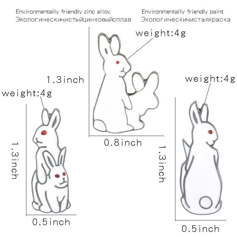 楽しい動物ピンカバ引用ウサギ嵌合おかしいブローチバッジバッグアクセサリーエナメルピンジュエリーギフト